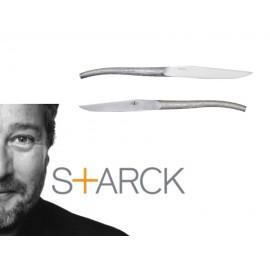 Starck pour Forge de Laguiole: Le Log, Coffret 6 Couteaux Monobloc Forgé