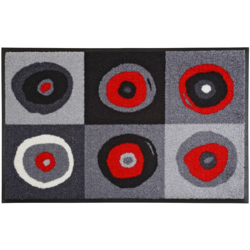 Tapis sergej grey 75x120cm de la s rie wash dry de wmk for Tapis cuisine wash and dry