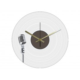 Vinyl Design Clock Microphone