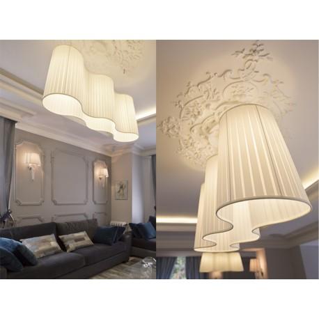 Suspension 3 Lampes H412 Blanc