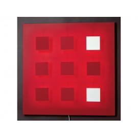Applique Tableau Metalo 9 Fond Rouge I409