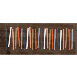 Mat Mixed Stripes Brown 80x200cm