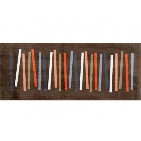 Mat Mixed Stripes Brown 80x200cm
