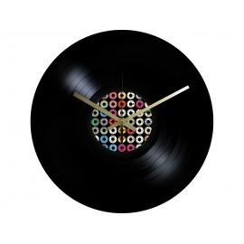 Horloge Vinyle Macaron 45 RPM Labels