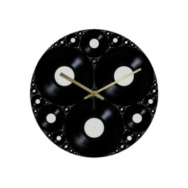 Vinyl Design Clock Vinyle Drop