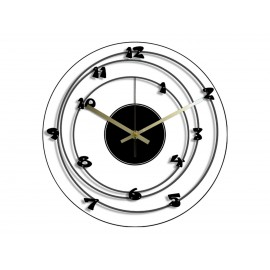 Horloge Vinyle Intégral Chiffres en Orbite