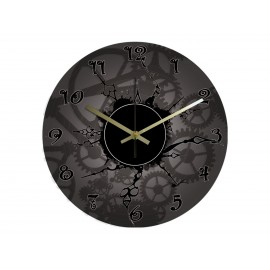 Vinyl Design Clock Retro Style