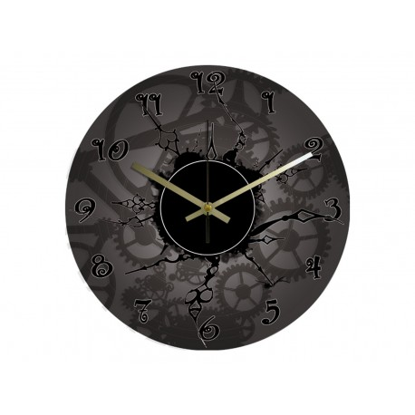 Vinyl Design Clock Retro Style