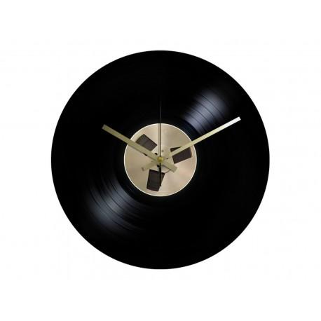Horloge Vinyle Macaron Bande Magnétique
