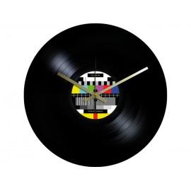 Horloge Vinyle Macaron Mire Télévision