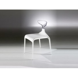 Chair Punk by Green Model White Seat / Transparent Folder