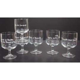 """Promenade en Aveyron"" set 6 verres"