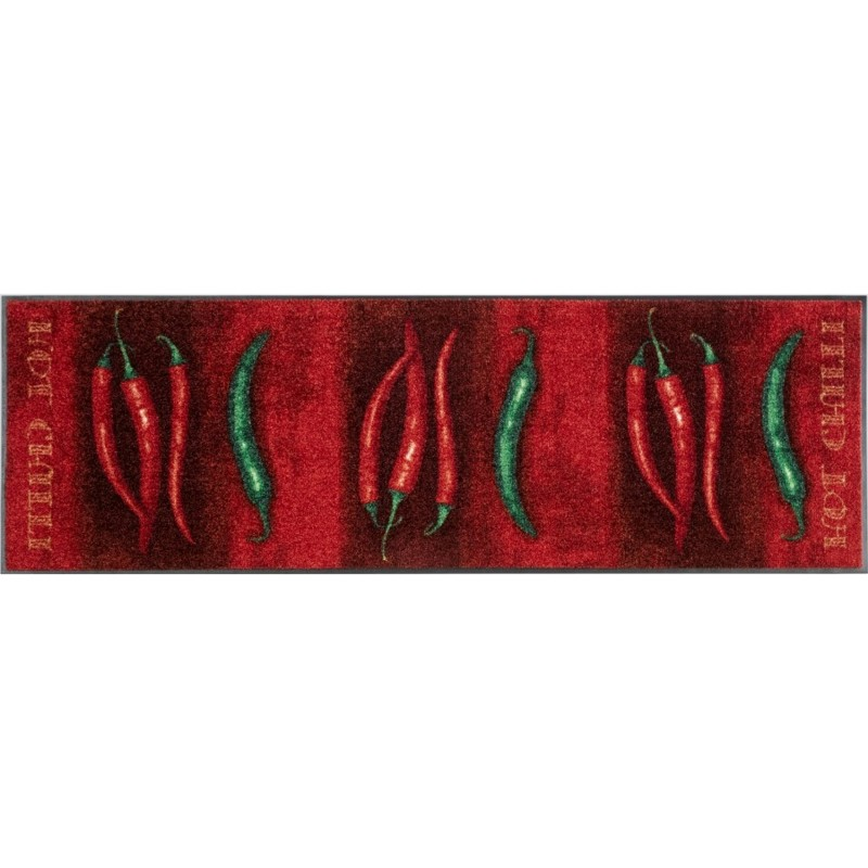 Tapis hot chilli 60x180cm de la s rie wash dry de wmk for Tapis cuisine wash and dry