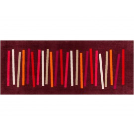 Tapis Mixed Stripes Rubined 80x200cm