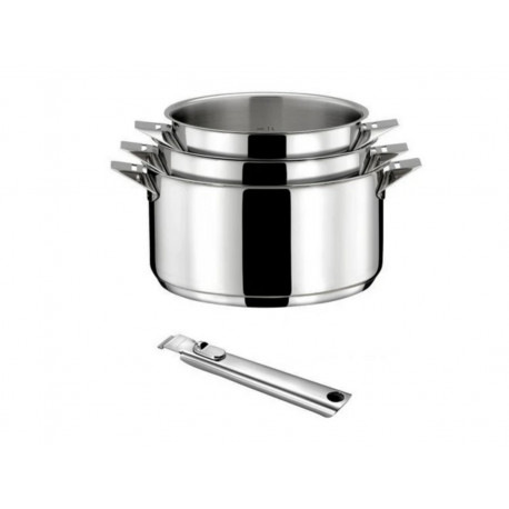 Saucepan Eclipse by Cuisinox Set of 3 + one Handle