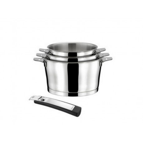 Saucepan Asana by Cuisinox Set of 3 + one handle